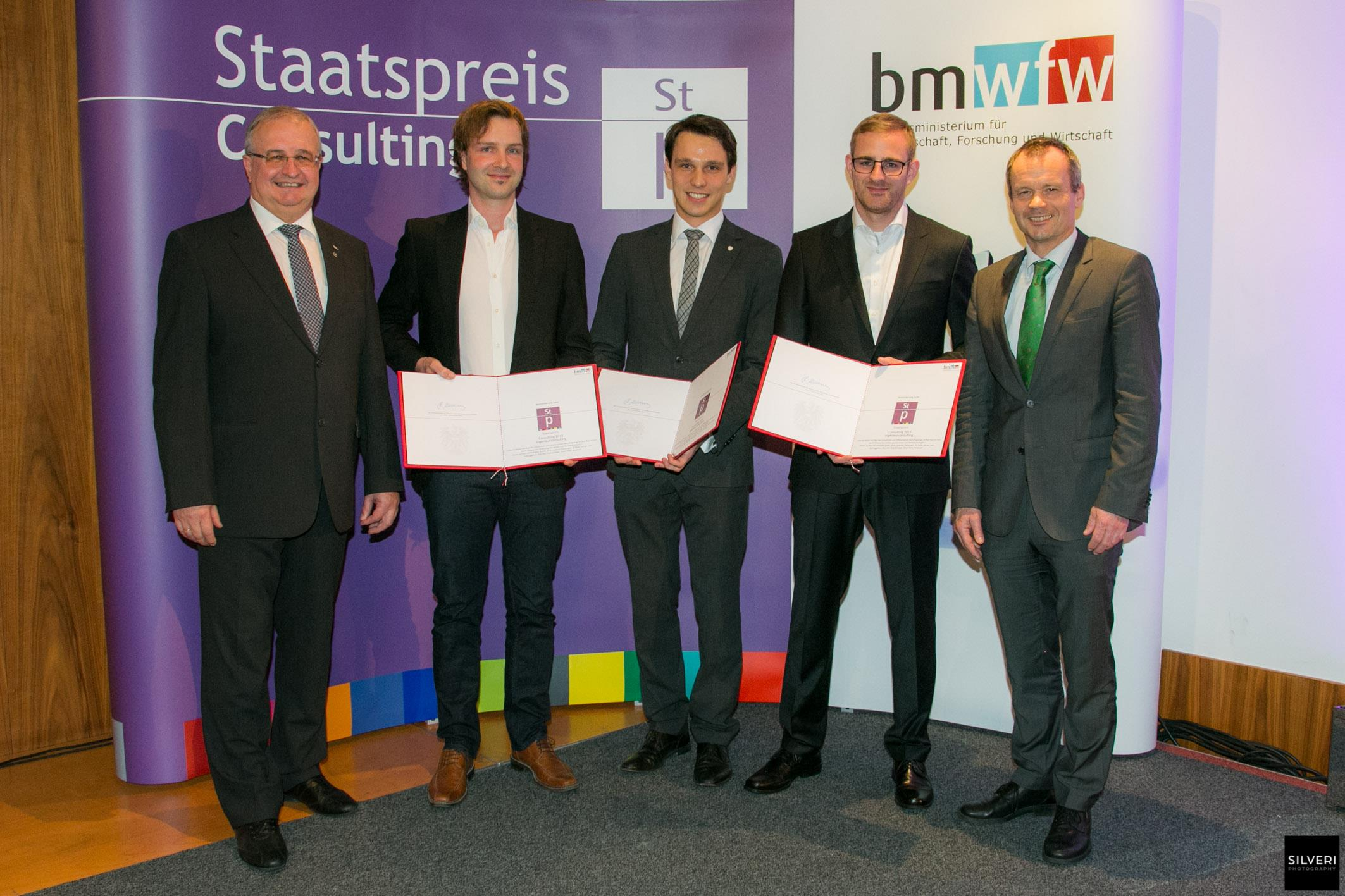 Entgegennahme des Staatspreises in Consulting
